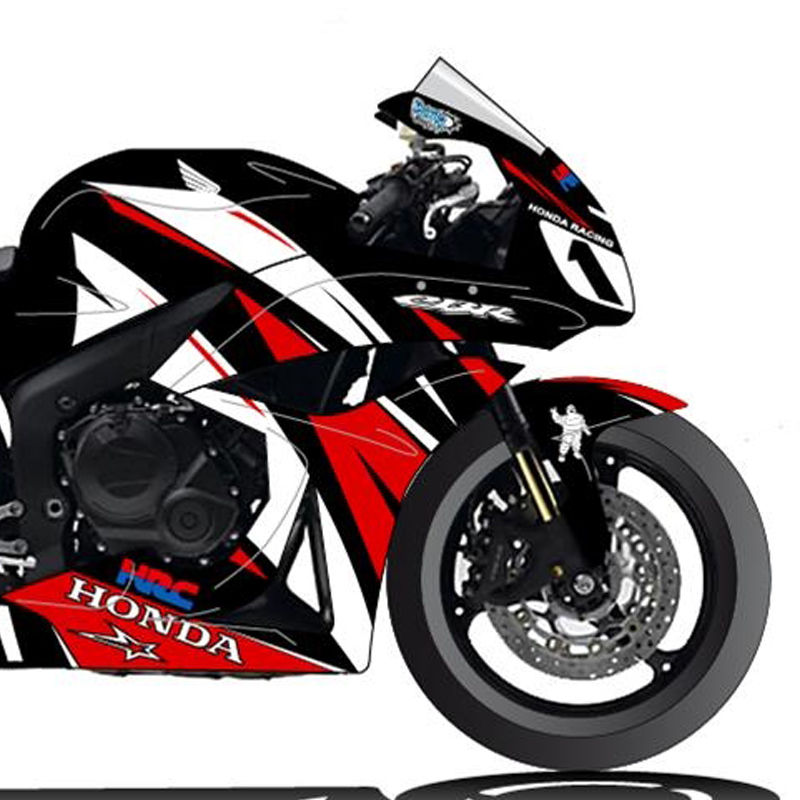 Honda cbr600r 2007 12 kit deco cosmic grafic v 1 kits for Deco 600 cbr