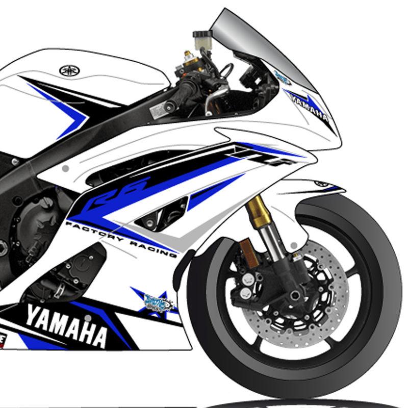 voir YAMAHA YZF,R6 2008,2014 , KIT DECO COSMIC GRAFIC V.2