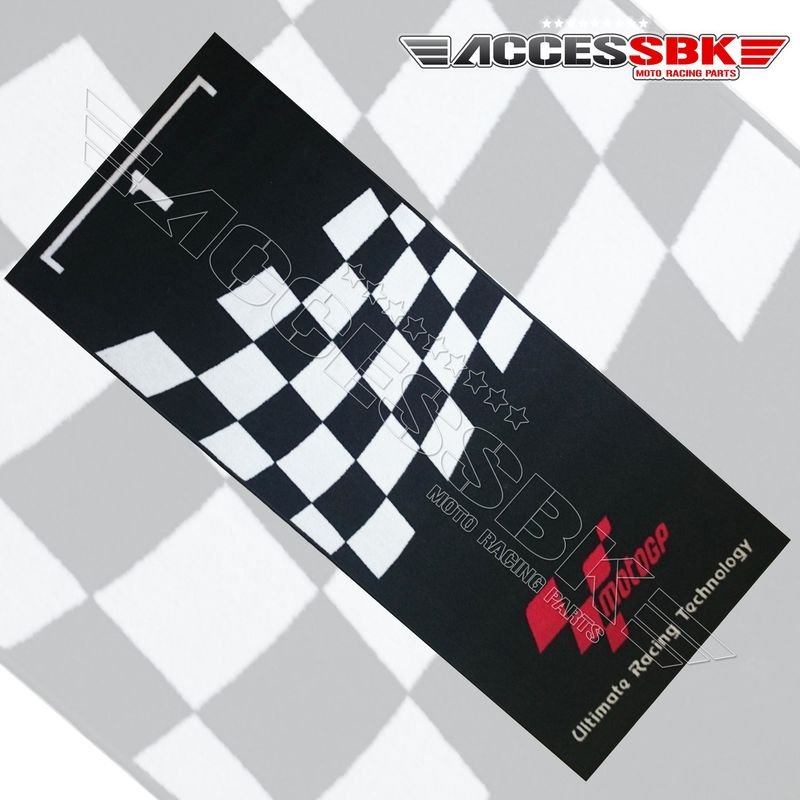 motogp tapis de stand noir damier blanc tapis de sol. Black Bedroom Furniture Sets. Home Design Ideas