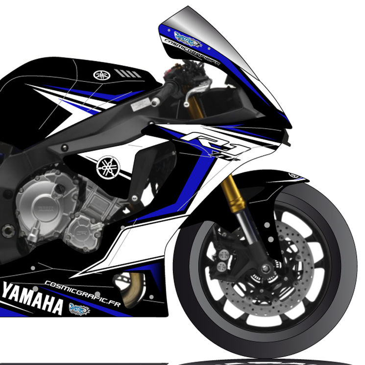 YAMAHA YZF,R1 2015 , KIT DECO COSMIC GRAFIC V.1