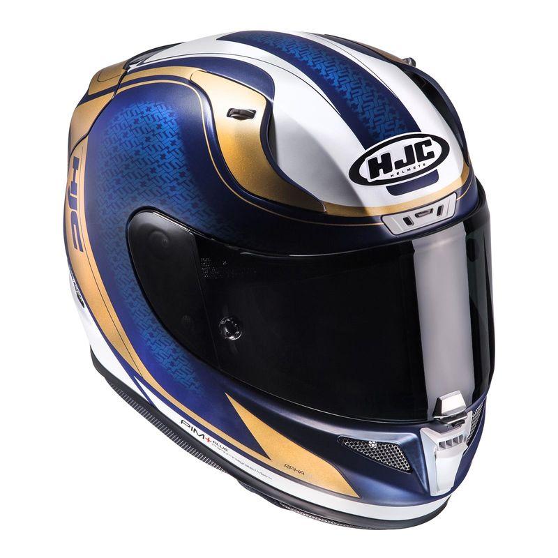 casque hjc rpha 11 riomont bleu or d cos casques equipement du motard accessbk. Black Bedroom Furniture Sets. Home Design Ideas
