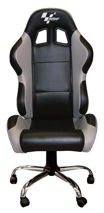 Noir Carbone Motogp Pilote Chaise Gris O8wk0PXn