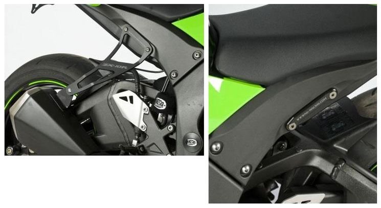 Kit patte de fixation silencieux + obturateur RG - ZX10R 2011-2013