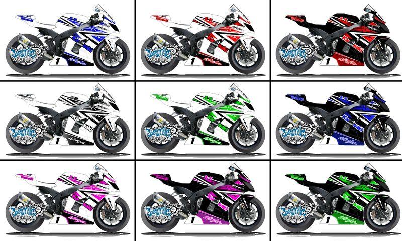 KAWASAKI ZX10R 2011,15 , KIT DECO COSMIC GRAFIC V.1
