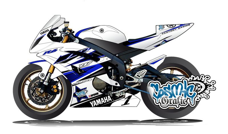 YAMAHA YZF,R6 2006,2015 , KIT DECO COSMIC GRAFIC V.1