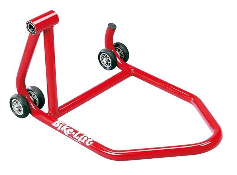 b quille arri re monobras gauche bike lift rouge b quilles equipement stand paddock accessbk. Black Bedroom Furniture Sets. Home Design Ideas